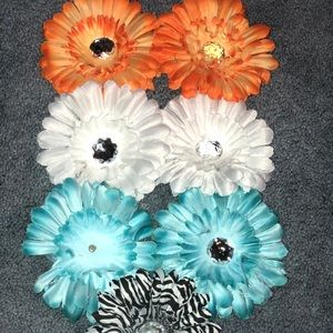 Hair Flower Clips Multicolor Pack